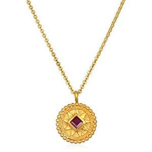 Gold Plated Satya July Birthstone Necklace